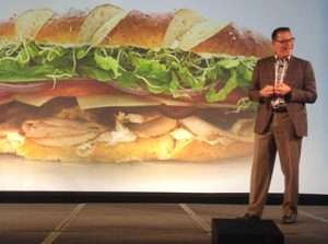 Yeah, that's a big sandwhich Tom is speaking to.